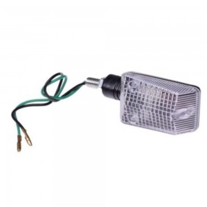 Lampa semnalizare scuter, atv ( negru , lentila transparenta)